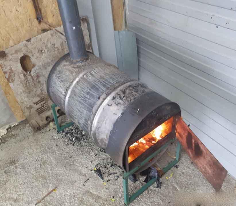 как сделать из термоса в теплицу печку
