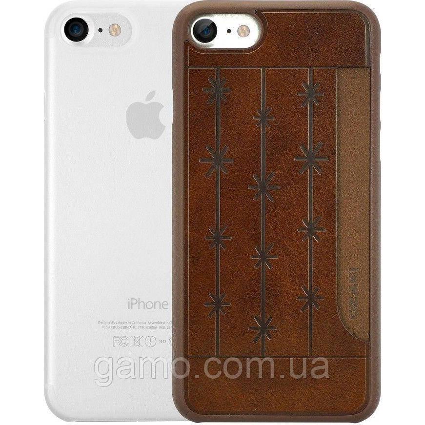 Набір панелей Ozaki O!coat Jelly + Pocket 2 in 1 Pack для Apple iPhone 7/8 Brown/Clear