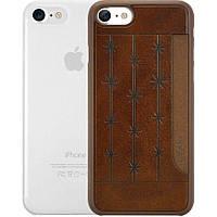 Набір панелей Ozaki O!coat Jelly + Pocket 2 in 1 Pack для Apple iPhone 7/8 Brown/Clear, фото 1