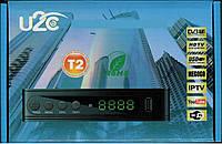 Цифровой эфирный DVB-Т2 ресивер U2C тюнер для теле-программ в FullHD качестве Youtube,Wi-Fi, ТВ-тюнеры и антенны, ТВ-тюнери та антени