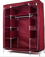 Шкаф тканевый складной органайзер для хранения вещей одежды обуви на 3 секции