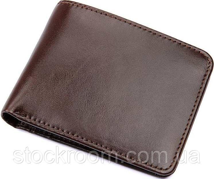 Бумажник мужской Vintage 14508 кожаный Коричневый, Коричневый