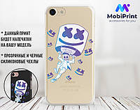Силіконовий чохол для Apple Iphone 7 Marshmello Fortnite (Маршмеллоу Фортнайт) (4007-3112)