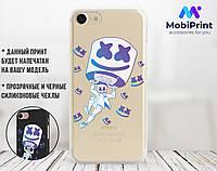 Силіконовий чохол для Apple Iphone 7 plus Marshmello Fortnite (Маршмеллоу Фортнайт) (4008-3112)
