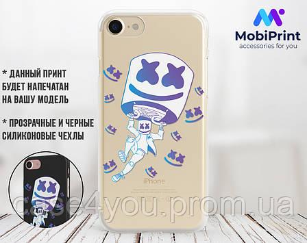 Силиконовый чехол для Apple Iphone 11 Pro Marshmello Fortnite (Маршмеллоу Фортнайт)  (4028-3112), фото 2