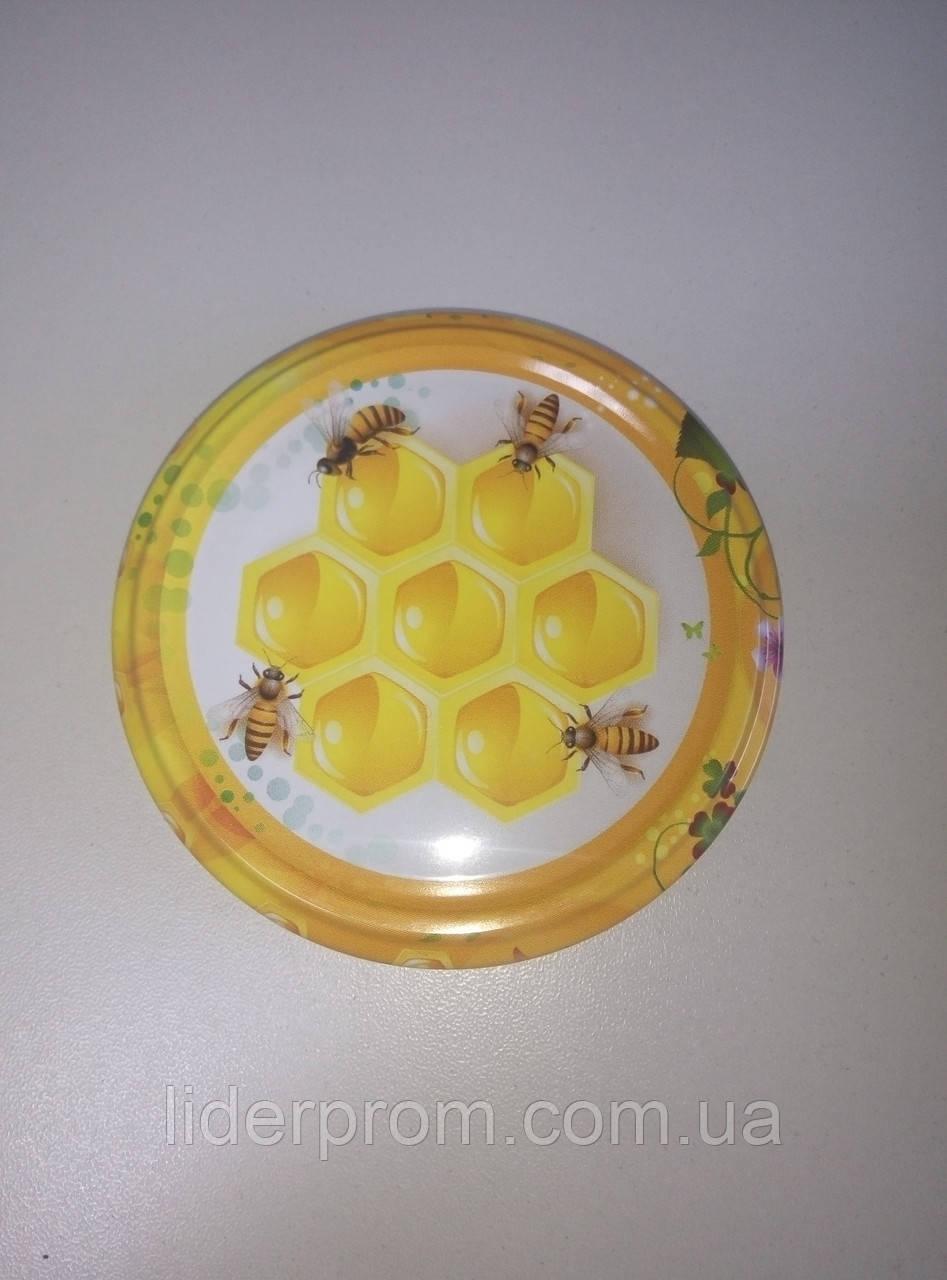 Крышка на БАНКУ МЕДА (соняшниковий, гречаний, ріпаковий, крем-мед) LYSON Польша