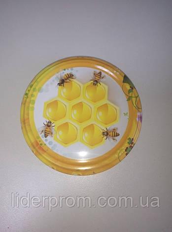 Крышка на БАНКУ МЕДА (соняшниковий, гречаний, ріпаковий, крем-мед) LYSON Польша, фото 2