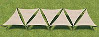Теневой навес Парус, шатер, тент семь треугольных полотен