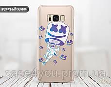 Силиконовый чехол для Samsung M205 Galaxy M20 Marshmello Fortnite (Маршмеллоу Фортнайт)  (28236-3112), фото 2