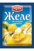 """Желе лимонное на желатине 90г ТМ """"Мрія"""""""