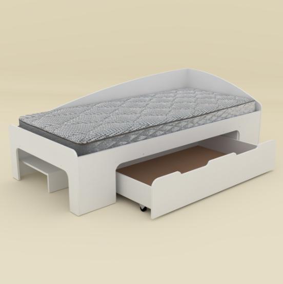 Детская кровать - 90+1 Компанит Нимфея Альба