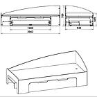 Детская кровать - 90+1 Компанит Нимфея Альба, фото 2