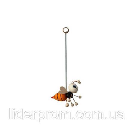 Іграшка сувенірна дерев'яна на пружині для бджоляра, для любителів меду та пасіки.LYSON Польща, фото 2