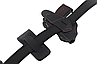 Кобура Форт-12 двухсторонняя формованная с клипсой с чехлом под магазин (кожа, чёрная), фото 5