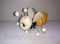 Іграшка сувенірна дерев'яна на пружині для бджоляра, для любителів меду та пасіки.LYSON Польща