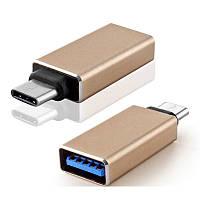 Стильный металлический переходник USB 3.1 Type C на USB 3.0, фото 1