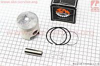 Кольца поршневые 52,5 мм STD + поршень и палец на скутер Suzuki AD 100 сс