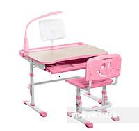 Детская парта трансформер FunDesk Bellissima Pink для школы и дома.