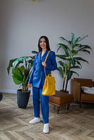 Брючный костюм синего цвета Udler