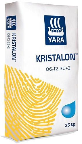Комплексное водорастворимое удобрение NPK для капусты, овощей, Яра Кристалон Yara KRISTALON 6-12-36 (25кг)