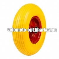 Колесо пенополиуретановое для тачки, модель 4.00-6/20 диаметр 330 мм/пром 6204