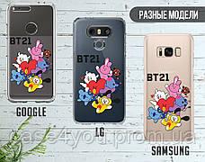 Силиконовый чехол для Samsung A207 Galaxy A20s BTS (БТС) (13019-3145), фото 3