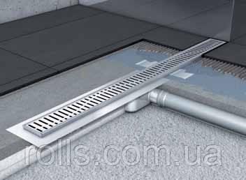 Душевой канал с горизонтальным фланцем ACO Shower Drain C-line 585мм низкий сифон