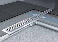 Душевой канал с горизонтальным фланцем ACO Shower Drain C-line 585мм низкий сифон, фото 1