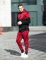 Мужской спортивный костюм Asos tech-diving В1 (черный+красный)