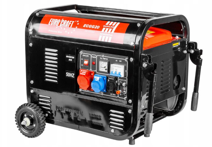 Бензиновый генератор тока 230В / 380В AVR EUROCRAFT