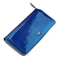 Гаманець жіночий ST Leather 18435 (S7001A) лакований Синій, Синій