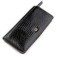 Гаманець жіночий ST Leather 18437 (S7001A) натуральна шкіра Чорний, Чорний