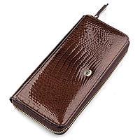 Гаманець жіночий ST Leather 18438 (S7001A) багатофункціональний Коричневий, Коричневий