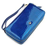 Гаманець жіночий ST Leather 18447 (S5001A) на блискавці Синій, Синій