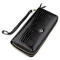 Гаманець жіночий ST Leather 18448 (S5001A) шкіряний Чорний, Чорний