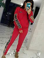 Спортивный костюм женский стильный со вставками (Норма)