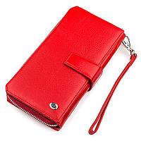 Гаманець жіночий ST Leather 18456 (ЅТ228) дуже красивий Червоний, Червоний