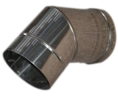 Коліно 45° ф 110 0.5 мм нержавіюча сталь