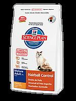 Корм для котов Hills PD Feline Mature Adult 7+ Hairball Control 1,5 кг хиллс от скопления шерсти в ЖКТ, курица