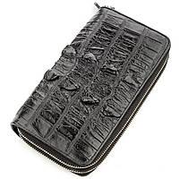 Клатч мужской CROCODILE LEATHER 18570 из натуральной кожи крокодила Черный, Черный