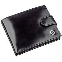 Якісний шкіряний гаманець для чоловіків Boston 18809 Чорний, Чорний, фото 1