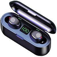 Беспроводные Bluetooth наушники F9 TWS Touch | IPX7 | Green LED