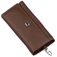 Мужской универсалный бумажник с ключницей ST Leather 18840 Коричневый, Коричневый