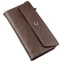Практичний жіночий гаманець-клатч ST Leather 18841 Коричневий, Коричневий