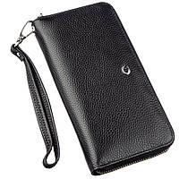 Витончений жіночий гаманець-клатч ST Leather 18852 Чорний, Чорний