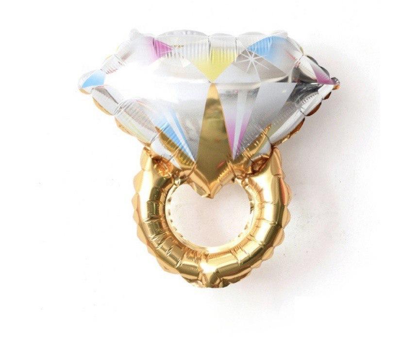 Фольгована кулька фігури Кольцо бриллиант золотое 61х68см