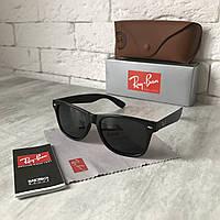 Солнцезащитные очки RAY BAN Wayfarer 2140 черный мат Polarized