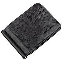 Мужской зажим с карманами для карточек ST Leather 18940 Черный, Черный
