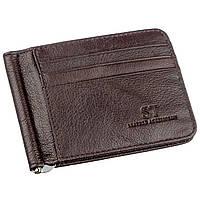 Стильный мужской зажим ST Leather 18941 Коричневый, Коричневый