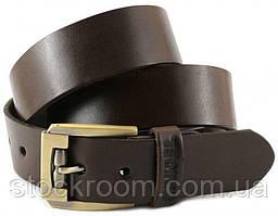Ремень мужской кожаный SHVIGEL коричневый (00023)